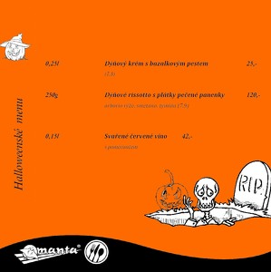 Halloweenské menu